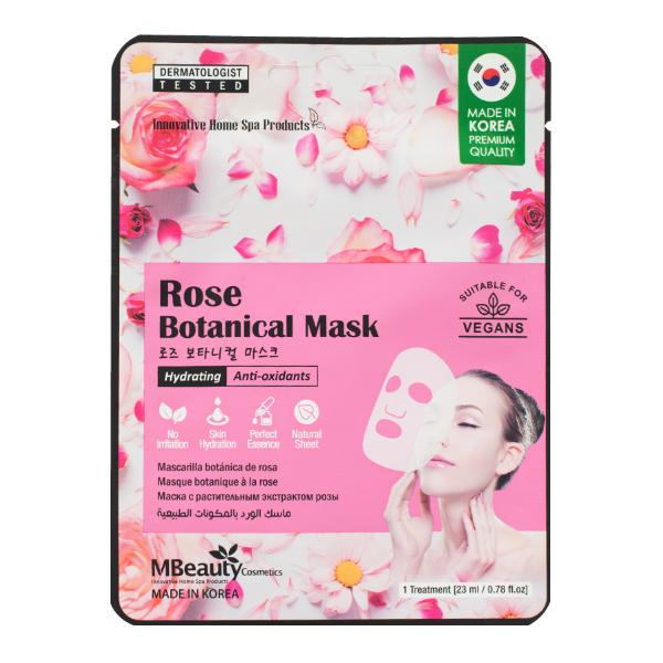 Антиоксидантная тканевая маска с экстрактом розы MBeauty Rose Hydrating & Anti-Oxidants Sheet Mask