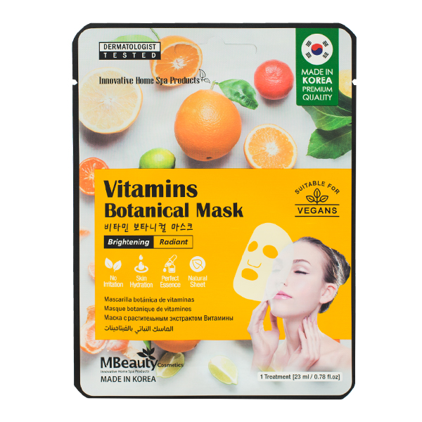 Тканевая маска для сияния кожи  MBeauty Vitamins Brightening & Radian Mask