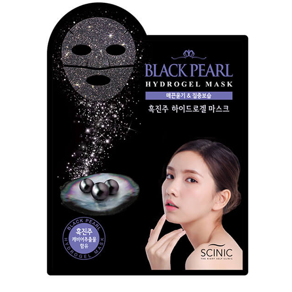 Гидрогелевая маска c чёрным жемчугом Scinic Black Pearl Hydrogel Mask