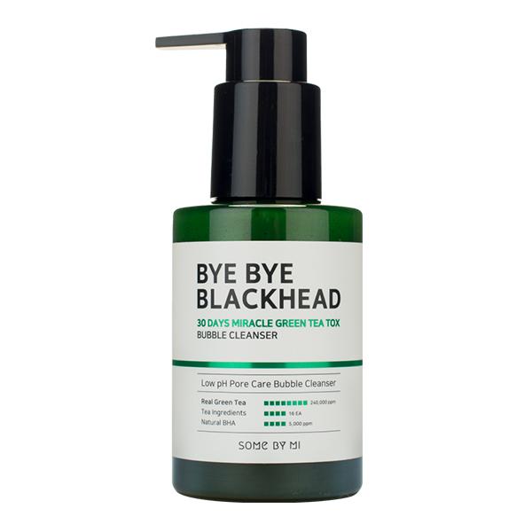 Очищающая кислородная маска-пенка от чёрных точек Some By Mi 30 Days Miracle Green Tea Tox Bubble Cleanser