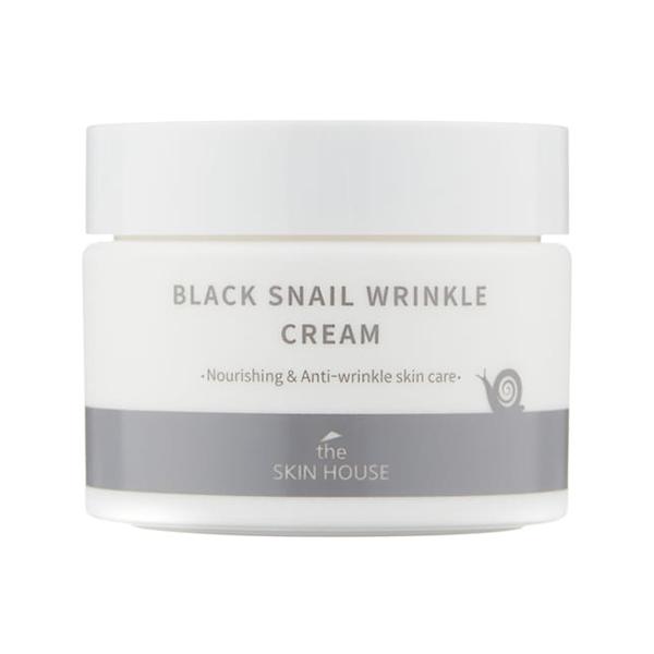 Омолаживающий крем с муцином чёрной улитки The Skin House Black Snail Wrinkle Cream