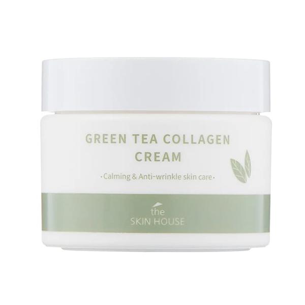 Успокаивающий крем с коллагеном и зелёным чаем The Skin House Green Tea Collagen Cream