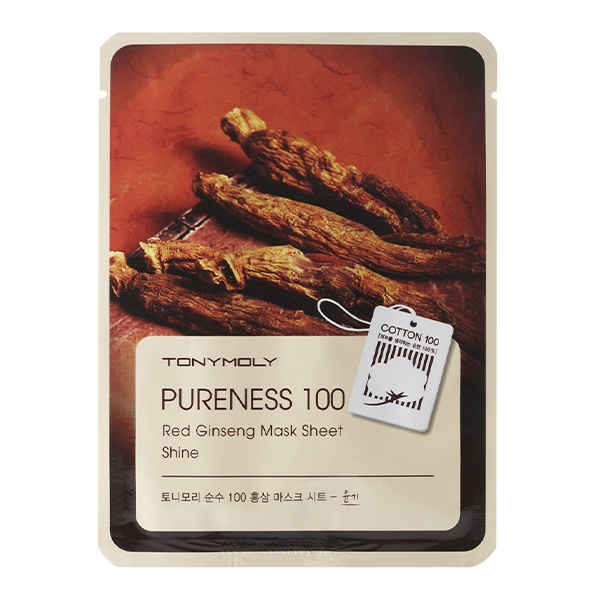 Тканевая маска с красным женьшенем  Tony Moly Pureness 100 Red Ginseng