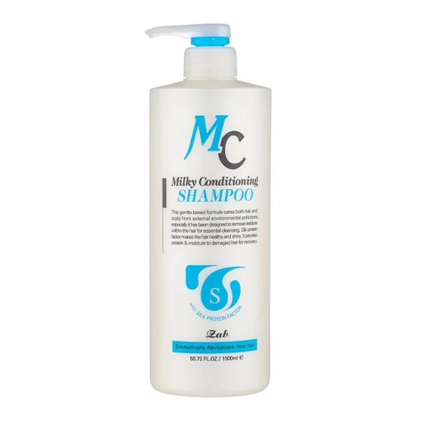 Шампунь для поврежденных волос, 1500 мл Zab Milky Conditioning Shampoo
