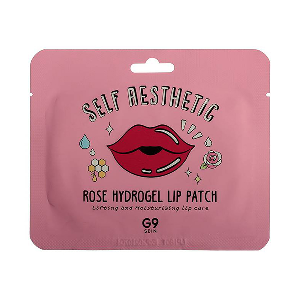 Патч для губ с экстрактом розы Berrisom G9 Rose Hydrogel Lip Patch