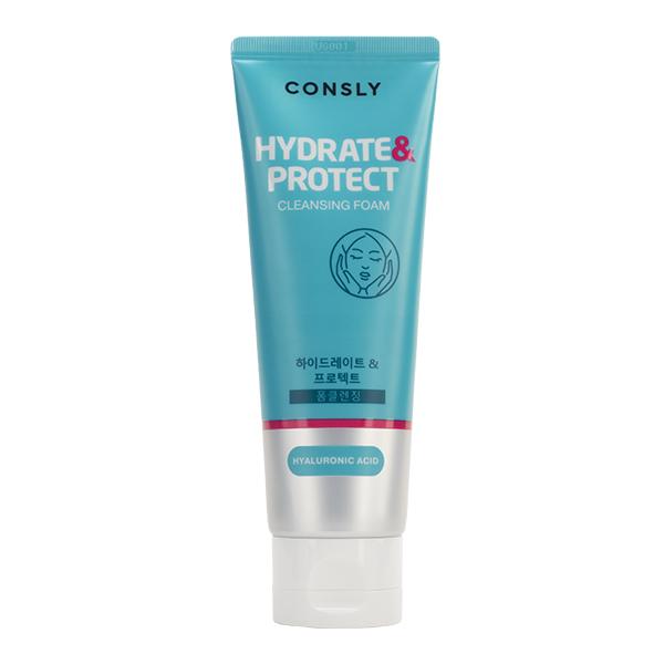 """Очищающая пенка для сухой кож с гиалуроновой кислотой  CONSLY Hyaluronic Acid Cleansing Foam """"Hydrate&Protect"""""""