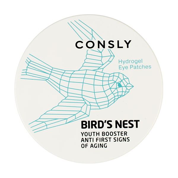 Укрепляющие патчи с экстрактом ласточкиного гнезда Consly Hydrogel Bird's Nest Eye Patches