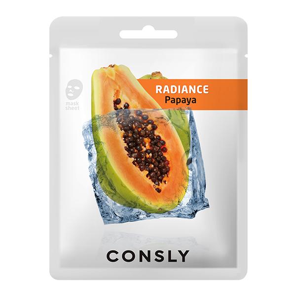Тканевая маска с экстрактом папайи  Consly Papaya Radiance Mask Pack