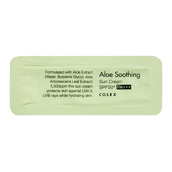 Солнцезащитный крем с алоэ () Пробник Cosrx Aloe Soothing Sun Cream SPF50 PA+++