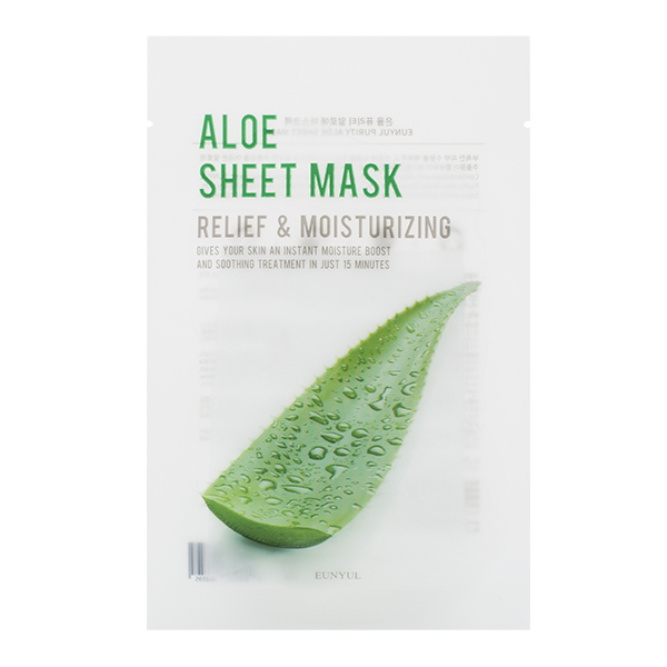 Тканевая маска с алоэ EUNYUL Purity Aloe Sheet Mask