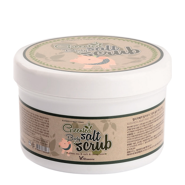 Скраб для тела с экстрактом зеленого чая, 600 гр Elizavecca Greentea Salt Body Scrub