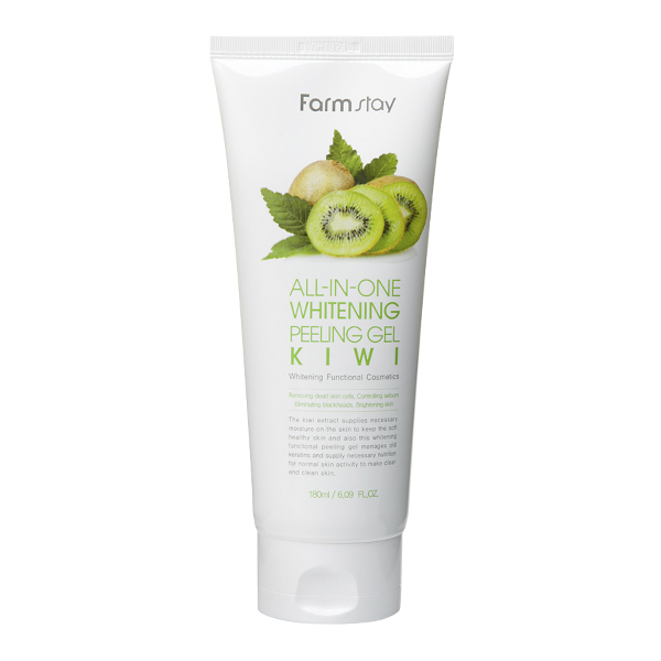 Пиллинг гель осветляющий с экстратком киви FarmStay All-In-One Whitening Kiwi Peeling Gel