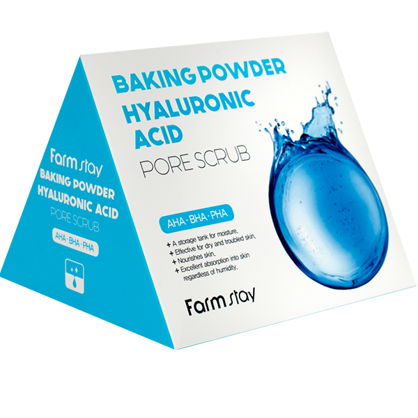 Скраб для лица с содой FarmStay Baking Powder Hyaluronic Acid Pore Scrub