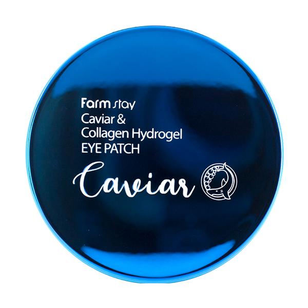 Омолаживающие патчи с коллагеном и экстрактом икры FarmStay Caviar & Collagen Hydrogel Eye Patch