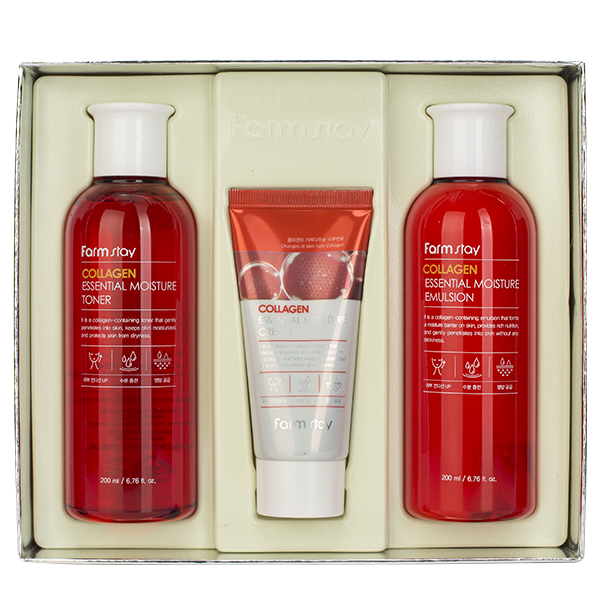 Набор средств с коллагеном  FarmStay Collagen Essential Moisture Skin Care 3Set