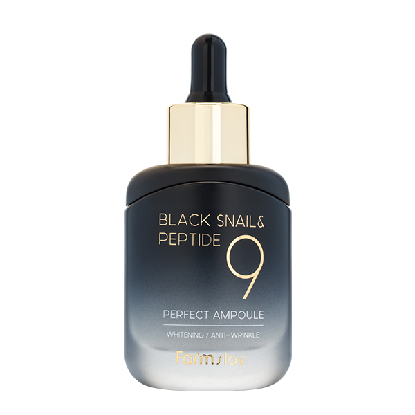 Ампульная сыворотка с пептидами  FarmStay Black Snail & Peptide 9 Perfect Ampoule