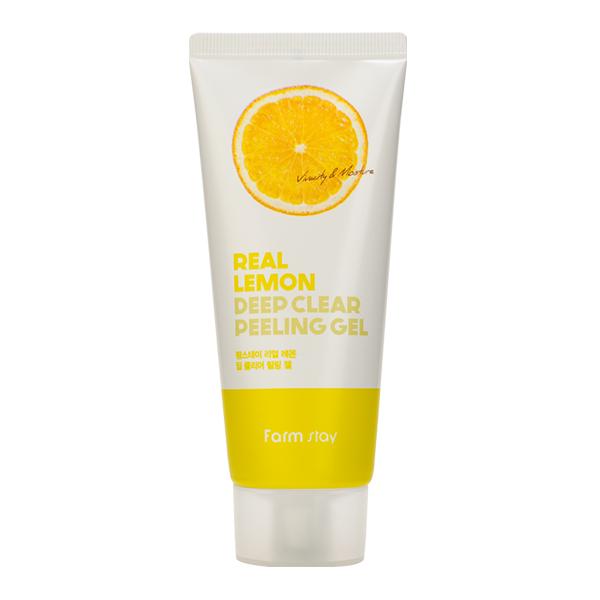 Пилинг-скатка с лимоном FarmStay Real Lemon Deep Clear Peeling Gel