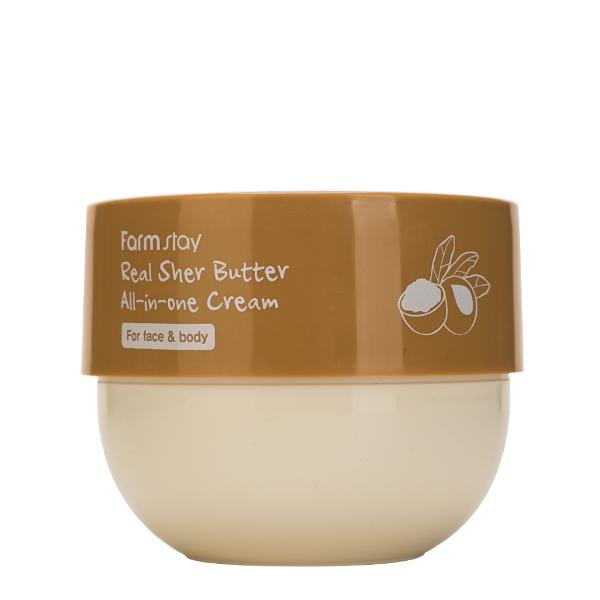 Универсальный питательный крем для лица и тела с маслом ши FarmStay Real Shea Butter All-In-One Cream