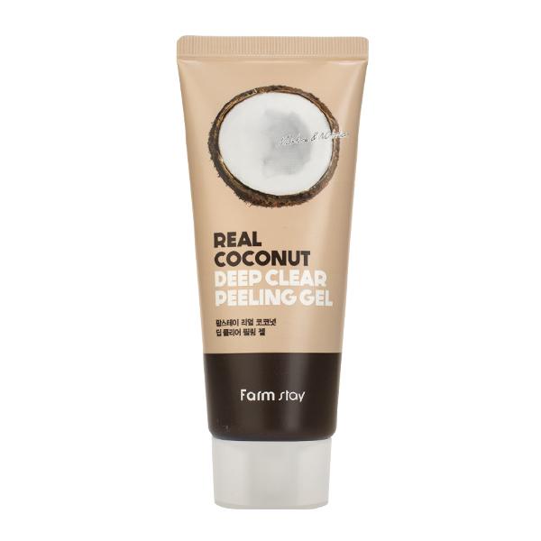 Пилинг-скатка с экстрактом кокоса FarmStay Rear Coconut Deep Clear Peeling Gel
