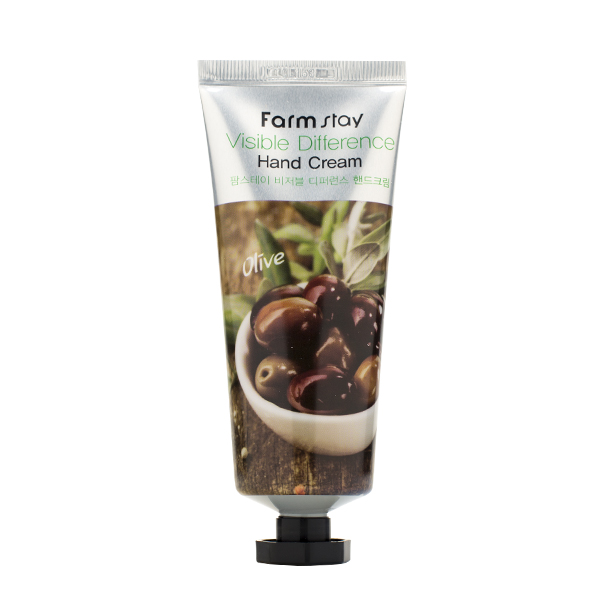 Крем для рук с экстрактом оливы, 100 мл FarmStay Visible Difference Hand Cream Olive