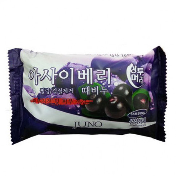 Мыло с ягодами асаи Juno Sangtumeori Acai Berry Peeling Soap