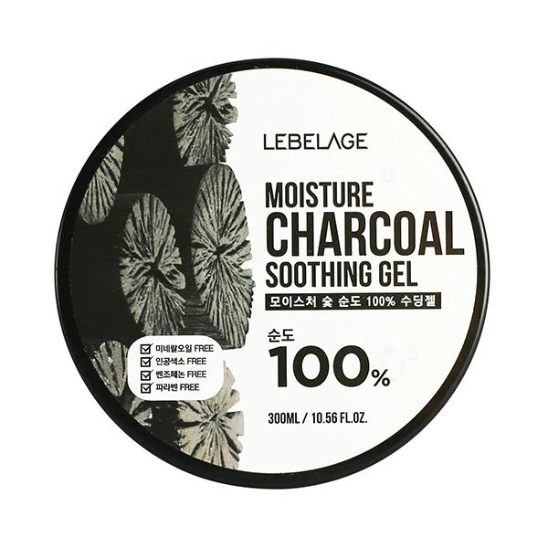 Универсальный гель для лица и тела с чёрным углём Lebelage Moisture Charcoal Soothing Gel