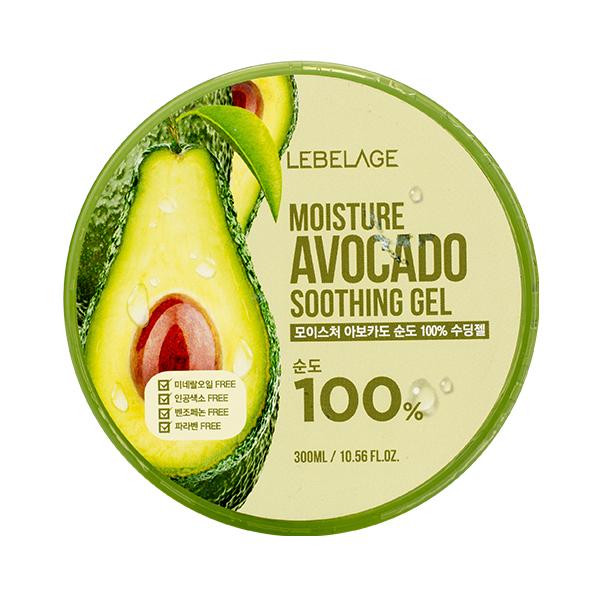 Универсальный гель с экстрактом авокадо Lebelage Soothing Gel Moisture Avocado 100%