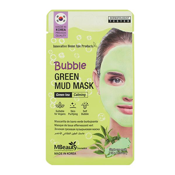 Очищающая кислородная маска с зелёным чаем Mbeauty Bubble Green Mud Mask