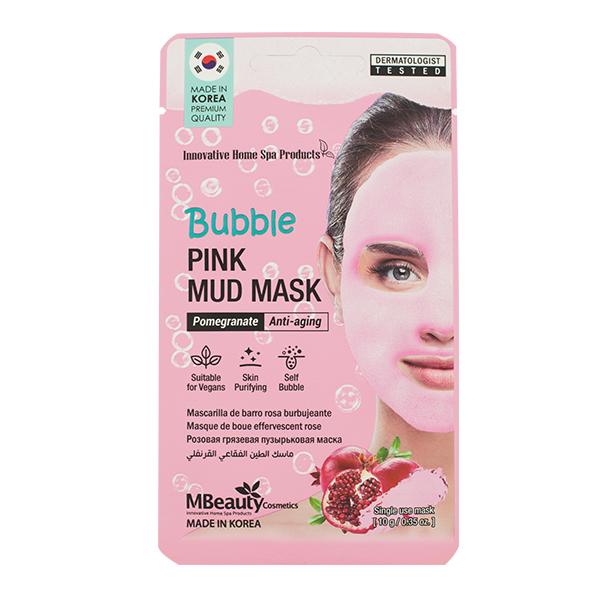 Очищающая кислородная маска с гранатом Mbeauty Bubble Pink Mud Mask