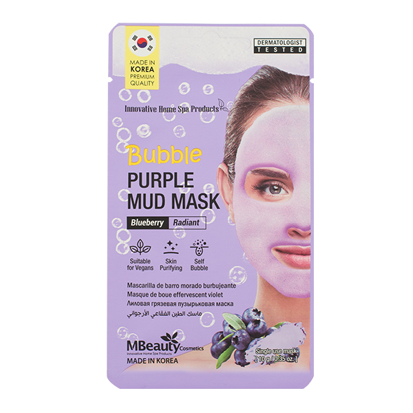 Очищающая кислородная маска для сияния кожи Mbeauty Bubble Purple Mud Mask