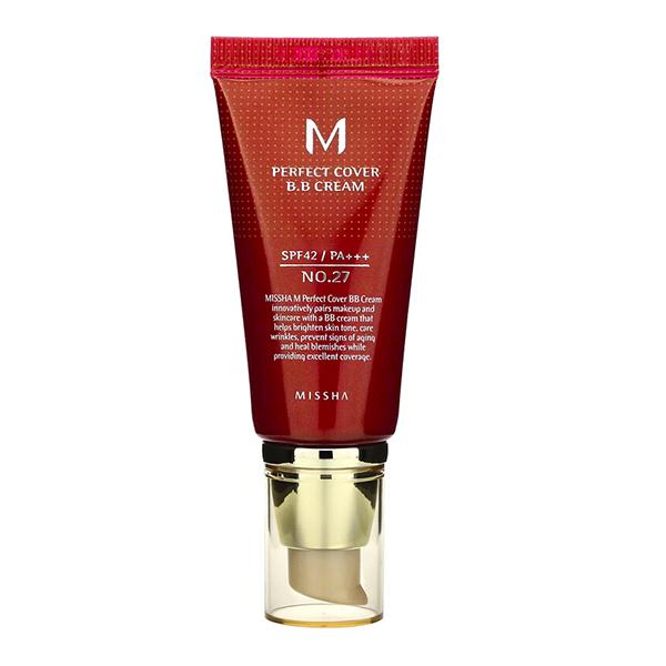 ББ крем с максимальной кроющей способностью Missha M Perfect Cover BB Cream №27 Honey Beige