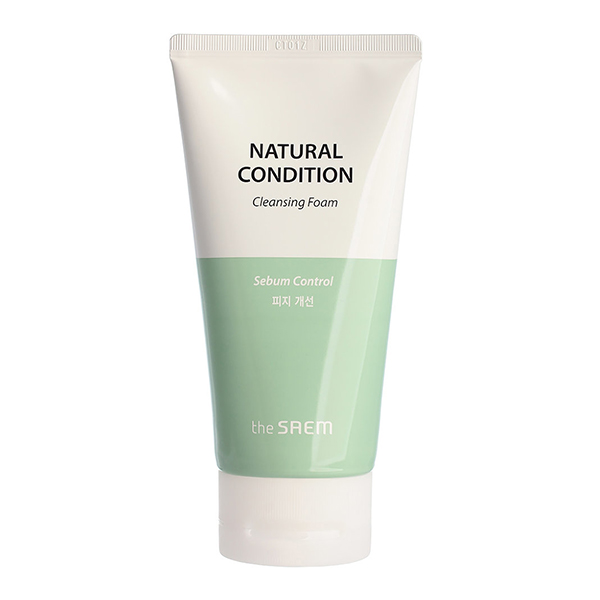 Пенка для жирной кожи The Saem Natural Condition Cleansing Foam (Sebum Controlling)
