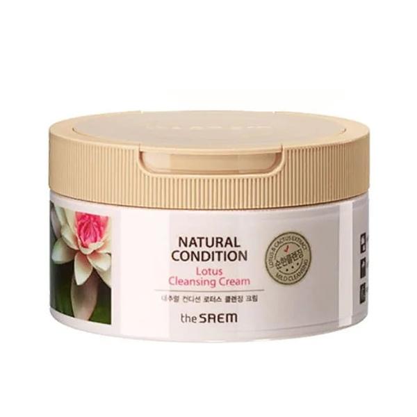 Очищающий крем с экстрактом лотоса The Saem Natural Condition Lotus Cleansing Cream