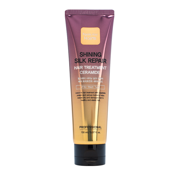 Укрепляющая маска с керамидами  FarmStay Shining Silk Repair Hair Treatment Ceramide