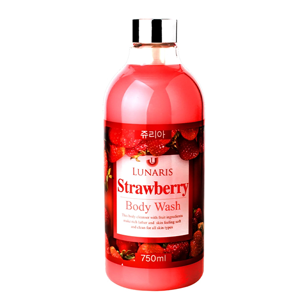 Гель для душа, 750 мл Lunaris Body Strawberry Wash