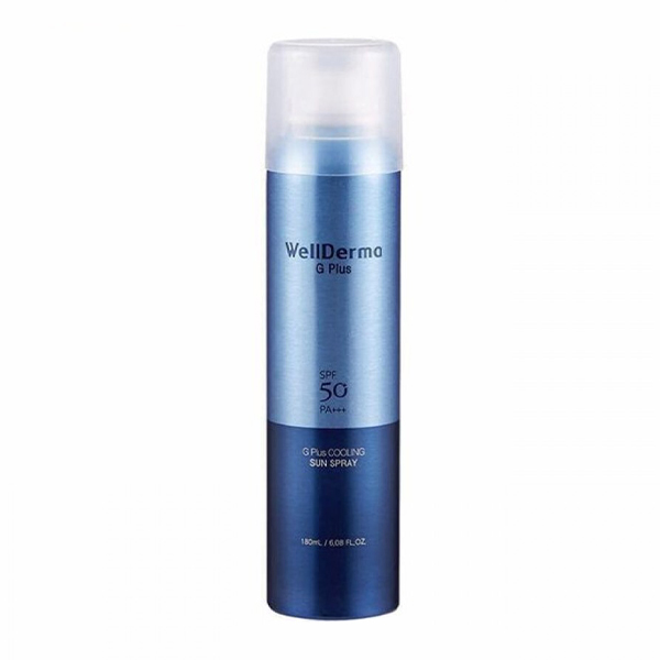 Охлаждающий солнцезащитный крем-спрей Wellderma G Plus Cooling Sun Spray SPF50 PA++++