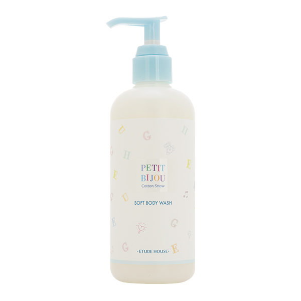 Мягкий гель для душа с экстрактом хлопка Etude House Petit Bijou Cotton Snow Soft Body Wash