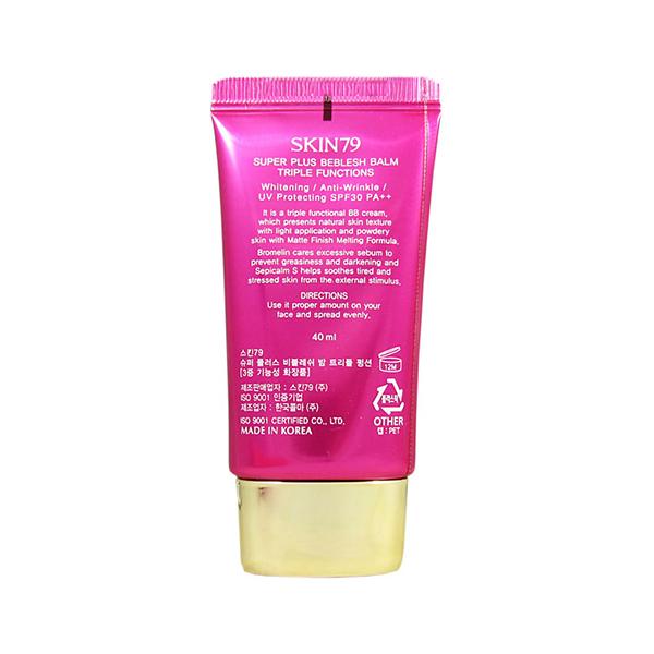 Skin79 Hot Pink Super Beblesh Balm Triple Function SPF30 (Tube)