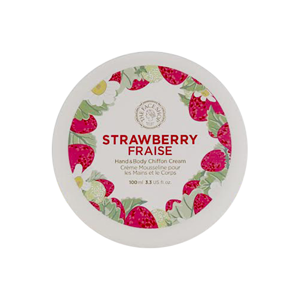 The Face Shop Hand & Body Shiffon Cream Strawberry Fraise