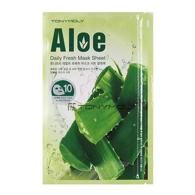 Набор тканевых масок для лица с экстрактом Алое 10 шт. Tony Moly Daily Fresh Aloe Mask Sheet Aloe