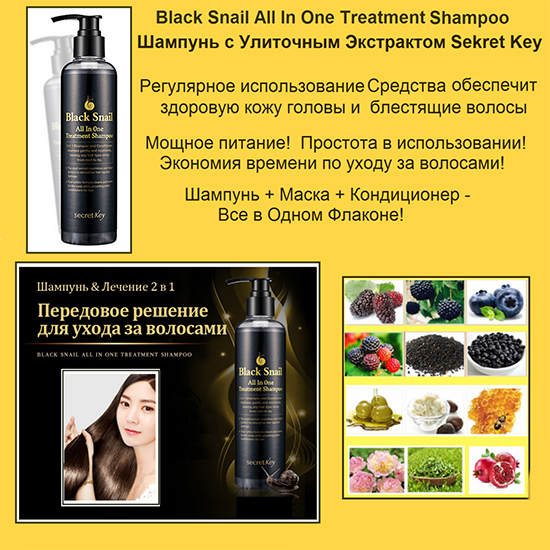 Secret Key Black Snail All in One Treatment Shampoo